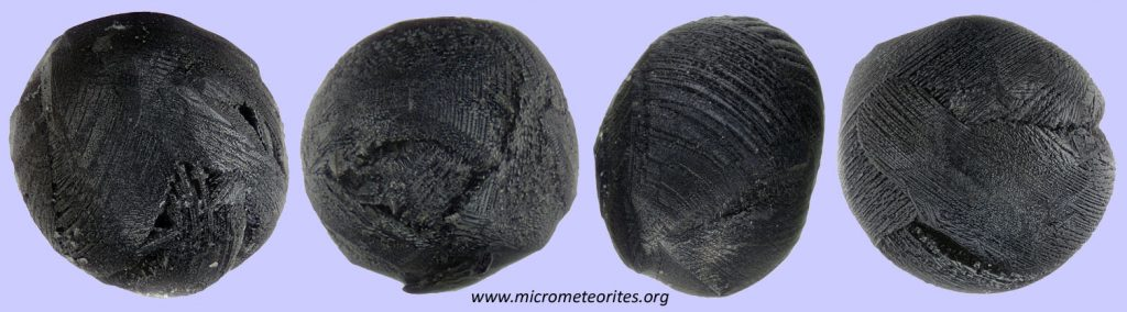 Unterscheidungsmerkmal Olivin-Bänder: 4 Mikrometeorite
