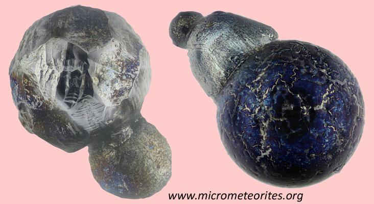 Unterscheidungsmerkmal verschmolzene Materialien: 2 industrielle Partikel