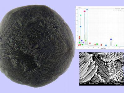 Identifizierung eines Mikrometeoriten vom G-Typ